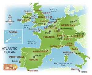 europe de l ouest carte Europe de l' Ouest | Top destinations Europe