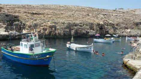 Baignade dans le port à proximité de la grotte bleue !